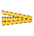 construction tape isolated icon vector image