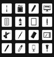 design and drawing tools icons set squares vector image