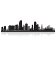 Miami USA city skyline silhouette vector image vector image