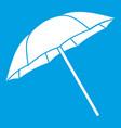 umbrella icon white vector image