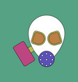 flat icon design collection military gas mask vector image vector image