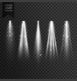 stage transparent spotlight effect vector image vector image