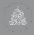 silver fantasy fir tree design vector image vector image