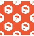 Orange hexagon umbrella pattern vector image