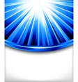 blue card template vector image vector image