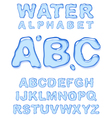 water alphabet letters set vector image