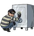 thief breaks into a safe vector image