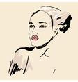 Sketch Beautiful girl vector image vector image