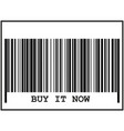barcode sign black icon on vector image
