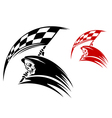 Black death with checkered flag vector image