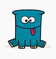 Blue cute monster vector image