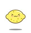 Cute lemon fruit cartoon character icon kawaii vector image