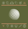 earth logo - halftone sphere vector image