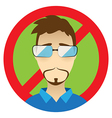 Edward Snowden flat icon CIA spy special agent vector image