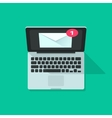 Email notification on laptop concept of vector image