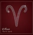 Glamour Zodiac sign design vector image