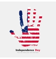 Handprint with the Flag of Liberia in grunge style vector image