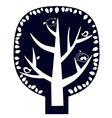 magic tree sticker vector image