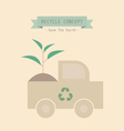 Recycle plant vector image