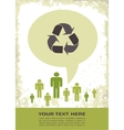 retro recycling eco poster vector image