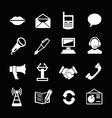 Set icons of communication vector image