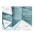 Tri-fold brochure template vector image