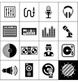 Dj Icons Black vector image