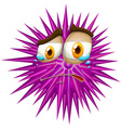 Purple thorn ball with crying face vector image