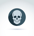 a human skull in a circle Dead head abst vector image