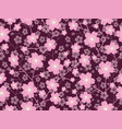 a seamless cherry blossom pattern vector image