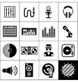 Dj Icons Black vector image