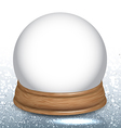 Empty Snow Dome Globe vector image