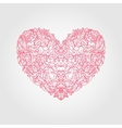 Heart of flowers roses vector image
