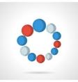 Loading flat color design icon vector image