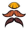 mustache icon cartoon vector image
