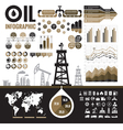 Oil industry - infographic elements vector image