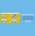 online bike shop banner horizontal concept vector image