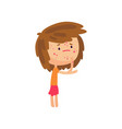 unhappy girl suffering from rash on her body vector image