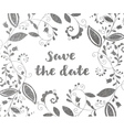 Silver greeting or save the date card vector image
