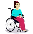 girl with disabilities in a wheelchair vector image