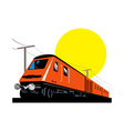 diesel train locomotive retro vector image vector image