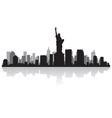 New York USA city skyline silhouette vector image
