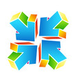 arrows colored abstract symbol vector image