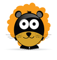 sweet and cute lion vector image vector image