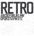 retro uppercase font vector image vector image