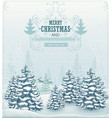 Merry Christmas forest winter landscape vector image
