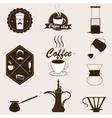 Coffee set Retro style vector image