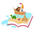 fairytale book concept kid book vector image