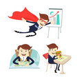 happy businessman counting money flying eating vector image