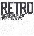 retro uppercase font vector image
